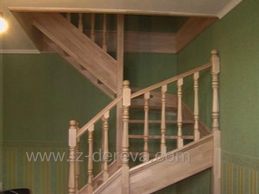 Лестницы деревянные из дерева на металлическом каркасе,с ков.