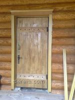 Деревянные входные двери в дом своими руками